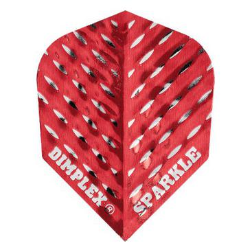 Dartflights Harrows Dimplex Sparkle Red