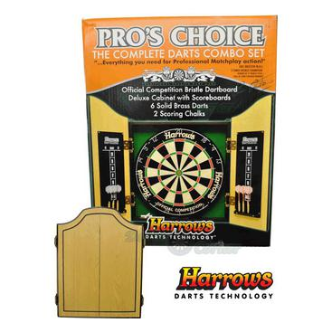Dartset, Dartskåp & Dartbakgrunder Harrows Pro Choice Set