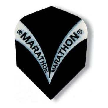 Dartflights Harrows Marathon Black Std