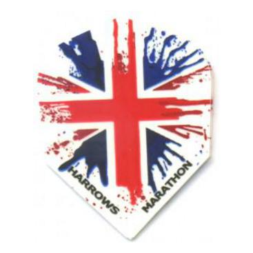 Dartflights Harrows Marathon Union Jack Std