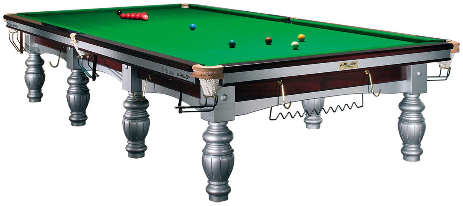 Snookerbord Riley Aristocrat Silver / Mahogany