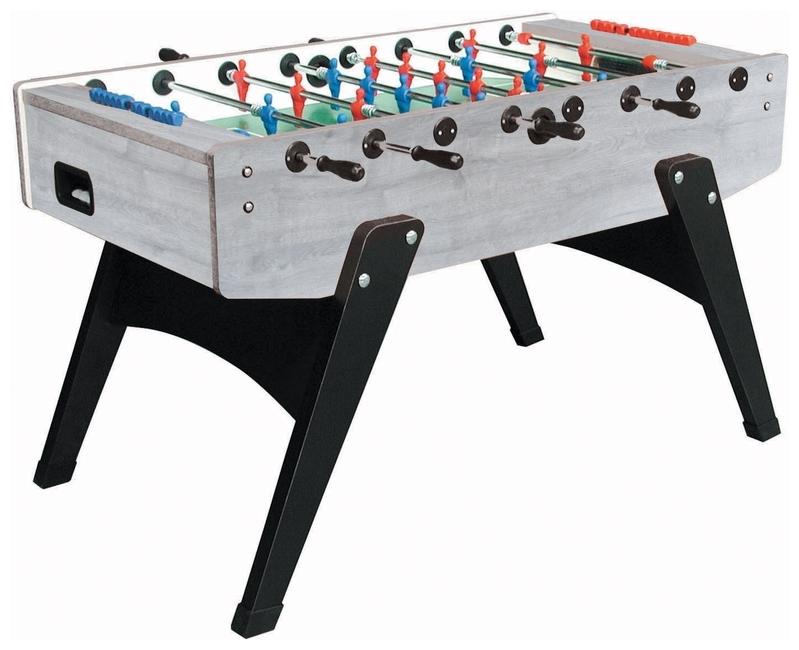 Foosball/Fotbollsspel Garlando G-2000 Grey Oak Teleskopiska
