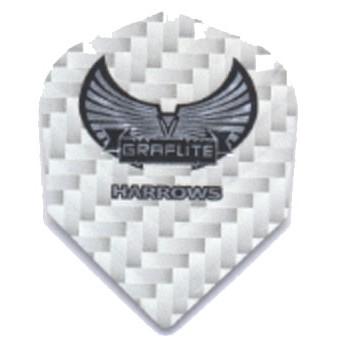 Dartflights Harrows Graflite Silver Std 3-pack