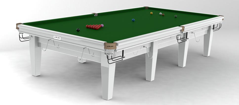Snookerbord Riley Grand White 8 fot