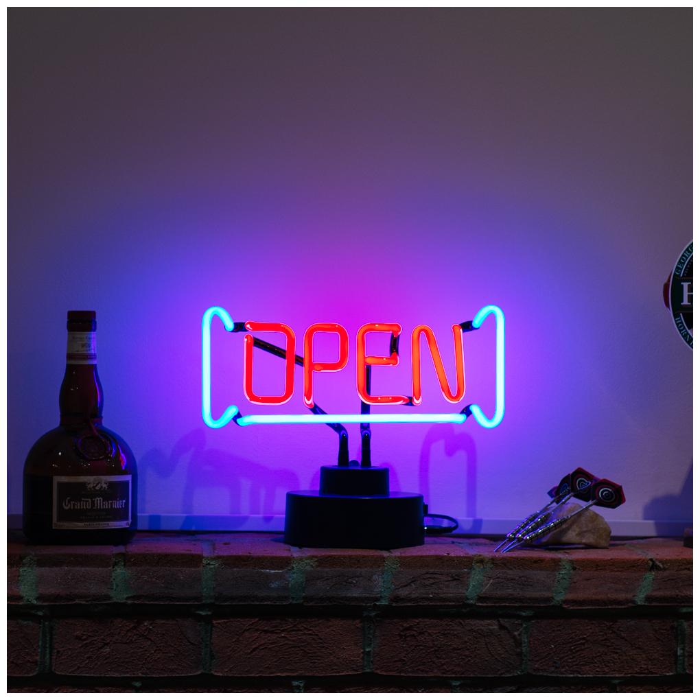 Licensierad Produkt Neonskulptur Open