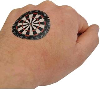 Designa Tatuering Darttavla
