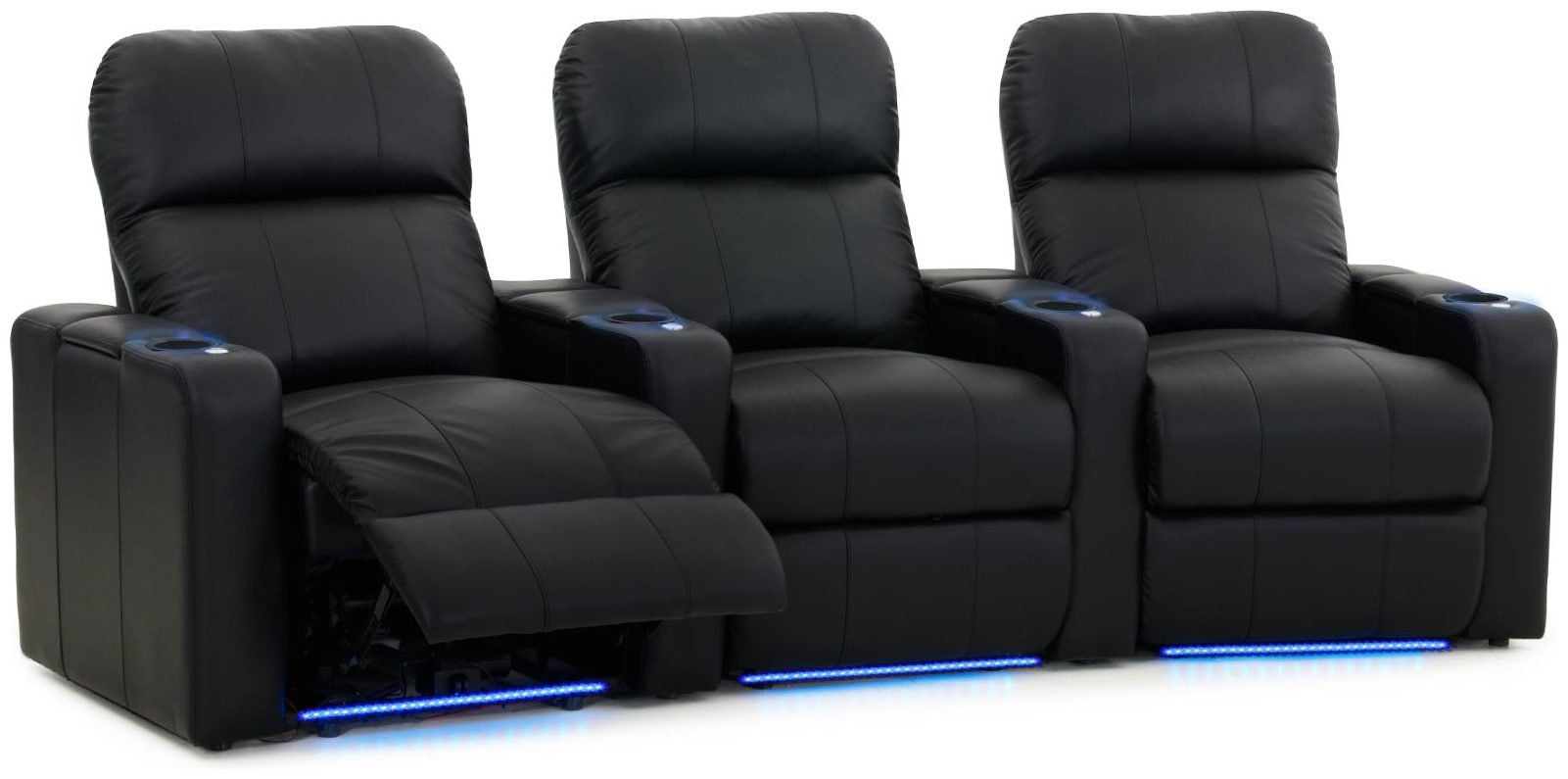 Bio Octane Seating XL700 Turbo Svart 3-sits Rak